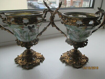 Antique Chinese  Kangxi Gilt Bronze  Mounted Vases  French Mounts  Ref Rx