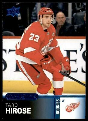 2019-20 UD Overtime Wave 1 Blue #45 Taro Hirose - Detroit Red Wings