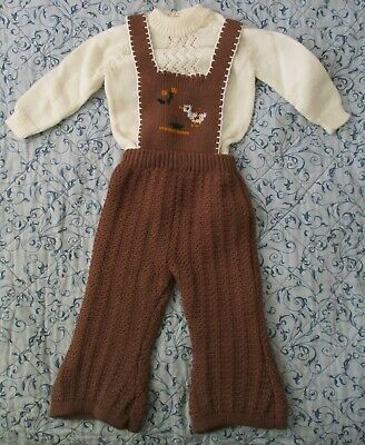 2 pce Childs Outfit Jumper & Overalls & Vest Size 1 NWOT