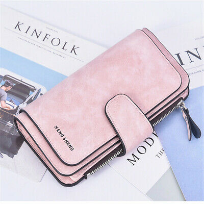 Tri-Fold  Money Bag Coin Wallets  Card Holder Purse Long Wallet  Soft Handbag