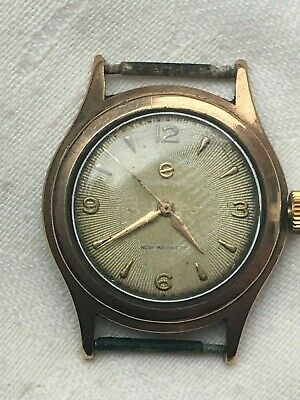 Vintage ELECTION 9 Ct Carat GOLD Mens WATCH,15 Jewels, Working - SWISS