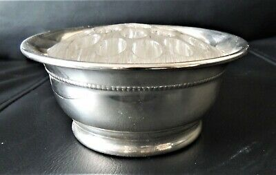 Falstaff silver-plated bowl with Flower arranging glass Frog
