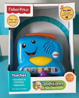 Fisher-Price Laugh & Learn Peek-a-Boo Toaster - Lights & Sounds 👶🏻