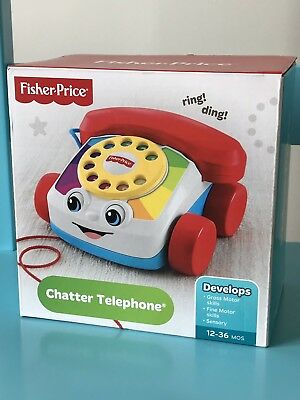 Fisher Price Chatter Telephone Ringing Sounds Moving Eyes Numbers Fun Baby Phone