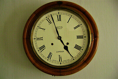 antique smiths enfield  station / school  wall clock (chiming)