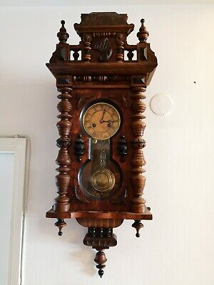 Antique Junghans 1880 Keyhole Wall Clock In Good Working Order