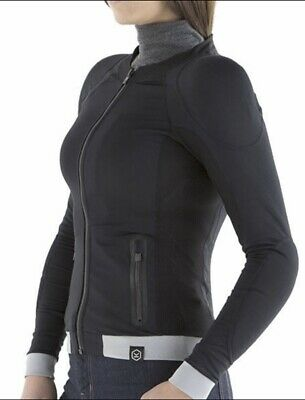 NEW Knox Ladies Womens Armoured Motorcycle Motorbike Stretch Shirt Top, Size 18