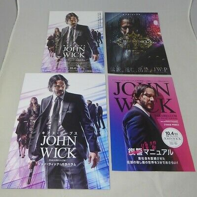 JOHN WICK CHAPTER 3 PARABELLUM Japanese movie program  with 3 flyers F/S