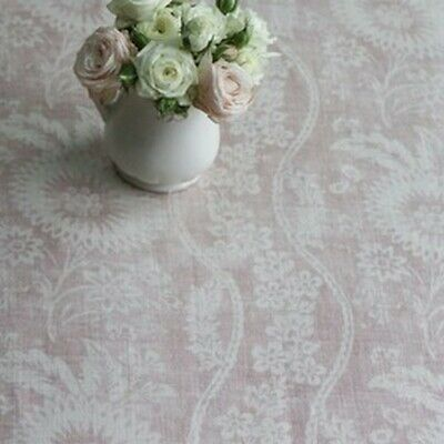 Peony and Sage - Sienna - Mulberry Pink on Chunky Cream Linen