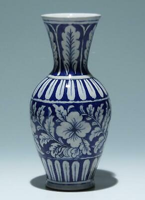 Modern Middle Eastern / Indian Blue & White Pottery Vase             #as433