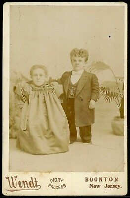 Cabinet Card Photograph Circus Midgets Major George Winner & Wife By Wendt