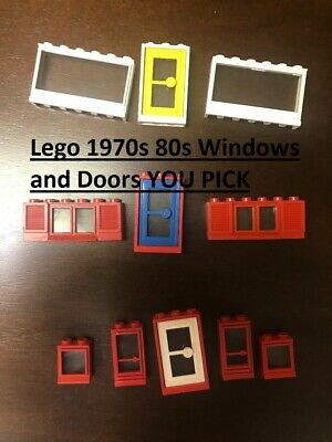 Lego Doors and Windows Vintage 1970s 80s Fixed Glass City,Police YOU PICK CHOOSE