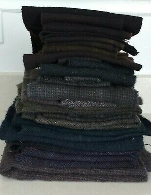 Lot Of Dark Wool Pieces  ~  3 Pounds