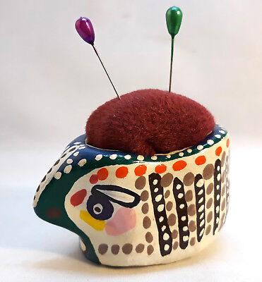 PUNTASPILLI DIPINTO cucito vintage Handmade Pin Cushion Pin Holder Embroidery