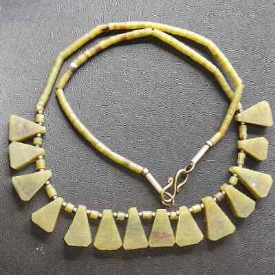Wonderful Old afghan Jade stone Beads Beautiful Necklace
