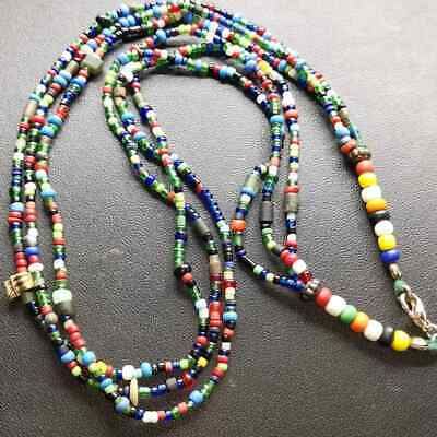 Afghanistan Antique Old Rare Beautiful Glass beads Necklace