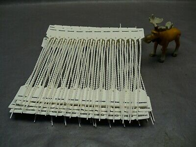 "9"" Standard Numbered Pull-Tite Seal White Lot of 100"
