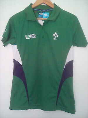 Official Canterbury World Cup 2015 Ireland Ladies Polo Shirt - Size 14 - BNWT