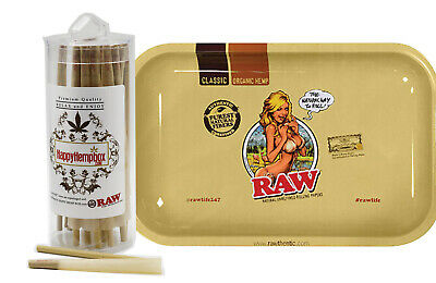 RAW Classic 98 Special Cones (100 Pack) with RAW Girl Small Tray