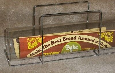 Pyrex Corning clear glass bread Bake A Round baking tube