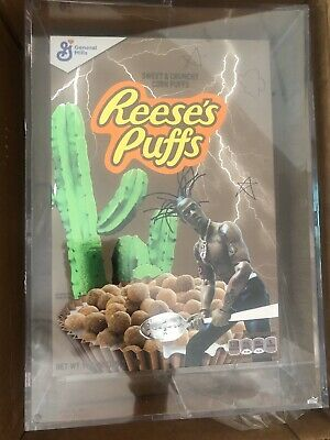Travis Scott x Reese's Puffs Cereal in Acrylic Box SEALED BRAND NEW