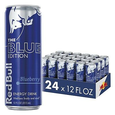 Red Bull Energy Drink Blueberry 24 Pack of 12 Fl Oz Blue Edition, Shipping Free