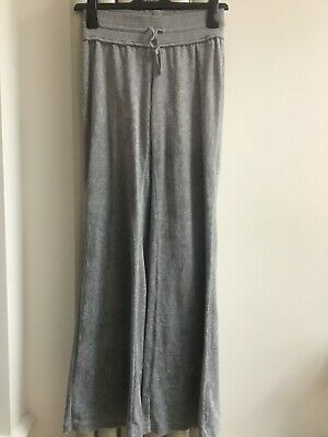 DNKY Grey Velour Joggers Age 16 Elasticted Waist Fits 8/10