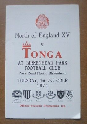 1974 - North of England XV v Tonga, Touring Match Programme.