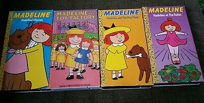 MADELINE LOT 4 VHS~Madeline at the Ballet~Dog show~Toy factory~Rescue~C Plummer