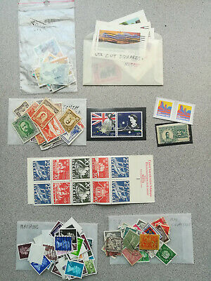 Old Worldwide Stamp Collection Boxlot Hoard Misc. Assortment, Odds & Ends
