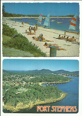 Two Australia Postcards - Port Stephens, NSW, Australia