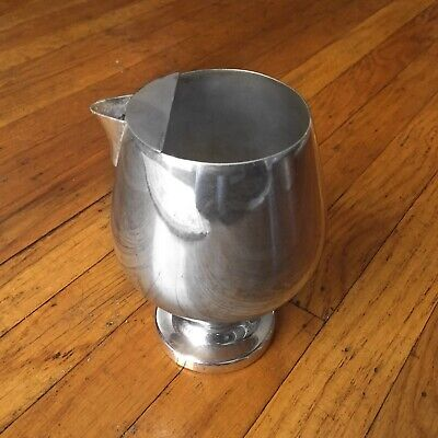 POOLE SILVER - 838 EPCA Silverplate Cocktail Goblet Snifter Pitcher