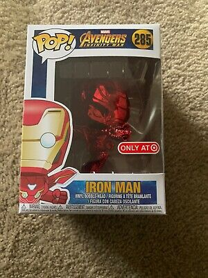 Funko Pop 285 Chrome Red Iron Man Infinity War Marvel Target Exclusive