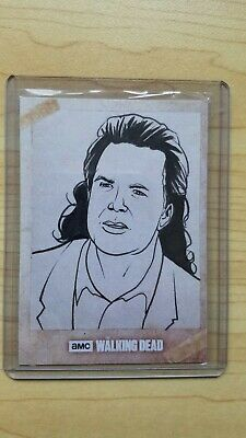 The Walking Dead Topps 1 of 1 Sketch Card - Eugene Sketch Card - TWD One of One