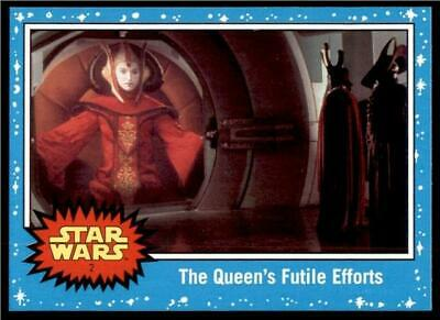 2019 Topps Journey to Rise of Skywalker Base #2 The Queen's Futile Efforts