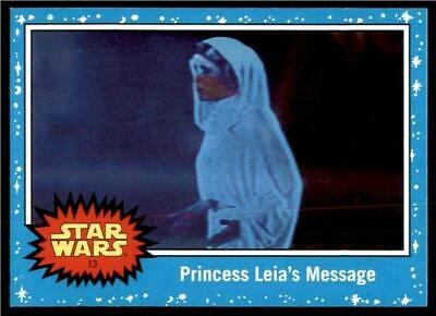 2019 Topps Journey to Rise of Skywalker Base #13 Princess Leia's Message