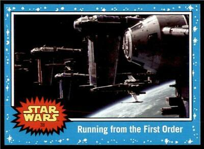 2019 Topps Journey to Rise of Skywalker Base #38 Running from the First Order