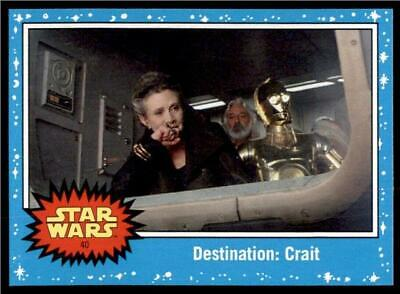 2019 Topps Journey to Rise of Skywalker Base #40 Destination: Crait
