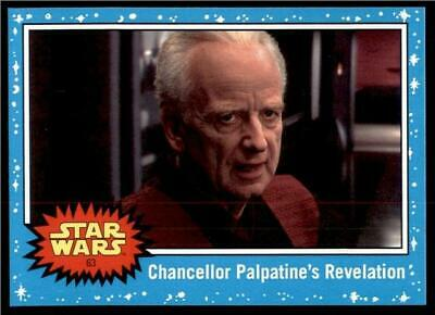 2019 Topps Journey to Rise of Skywalker Base #63 Chancellor Palpatine Revelation