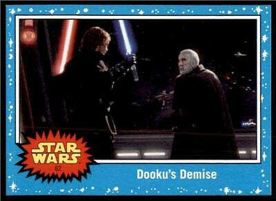 2019 Topps Journey to Rise of Skywalker Base #62 Dooku's Demise