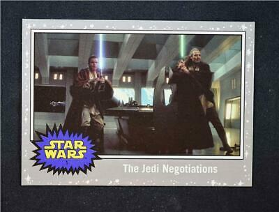 2019 Topps Journey to Rise of Skywalker Silver #1 The Jedi Negotiations