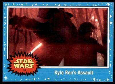 2019 Topps Journey to Rise of Skywalker Base #94 Kylo Ren's Assault