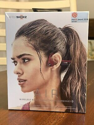 NEW AfterShokz Trekz Air Wireless Bone Conduction Headphones Canyon Red AS650 NR