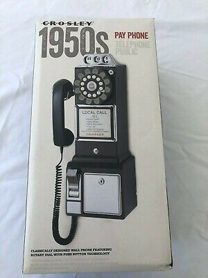 Pay Phone Vintage Style Wall Mount Black New