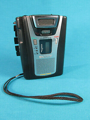 Sony TCM-465V Handheld Cassette Clear Voice Activated Tape Recorder - Used