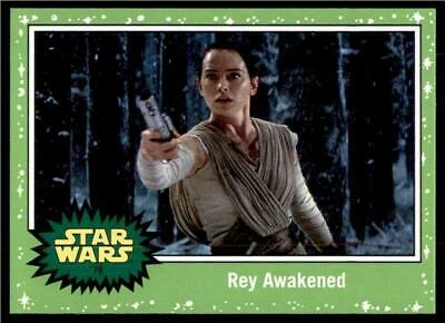 2019 Topps Journey to Rise of Skywalker Green #79 Rey Awakened