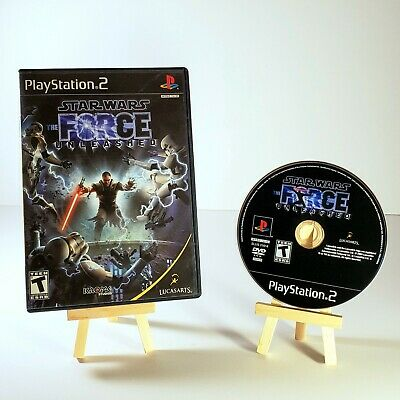 STAR WARS: The Force Unleashed (Sony PlayStation 2, PS2, 2008) COMPLETE CIB
