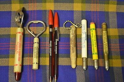 Vtg Lot of 8 Advertising Bullet Pencils & Bottle Openers-Farmers Union,COWTEL++