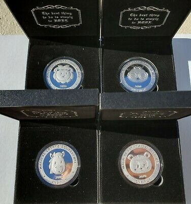 RARE Magical Crypto Conference 4 Coin Set, like Casascius coins