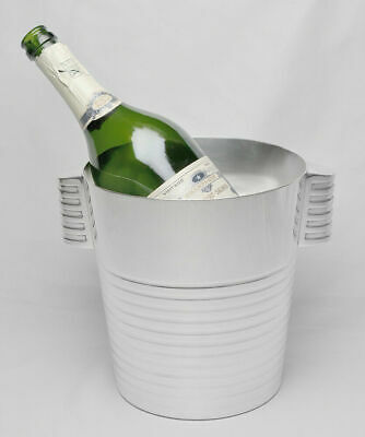 Christofle Ondulation Champagne Bucket / Wine Cooler / Weinkühler by Luc Lanel